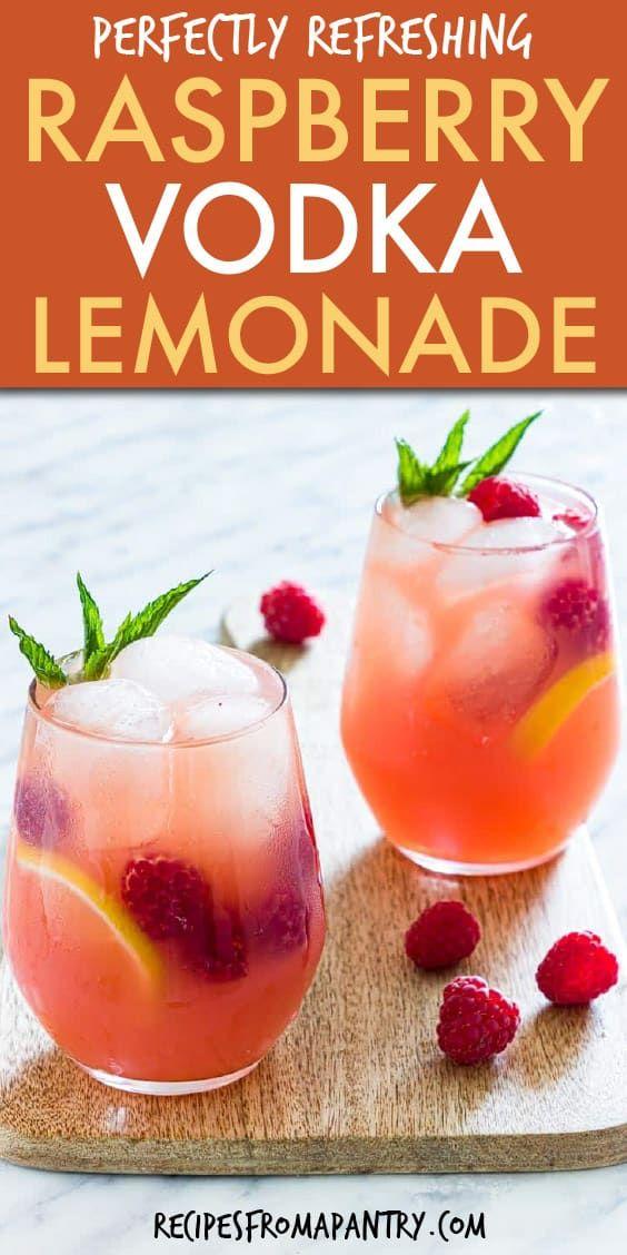 Photo of Raspberry Vodka Lemonade Cocktail
