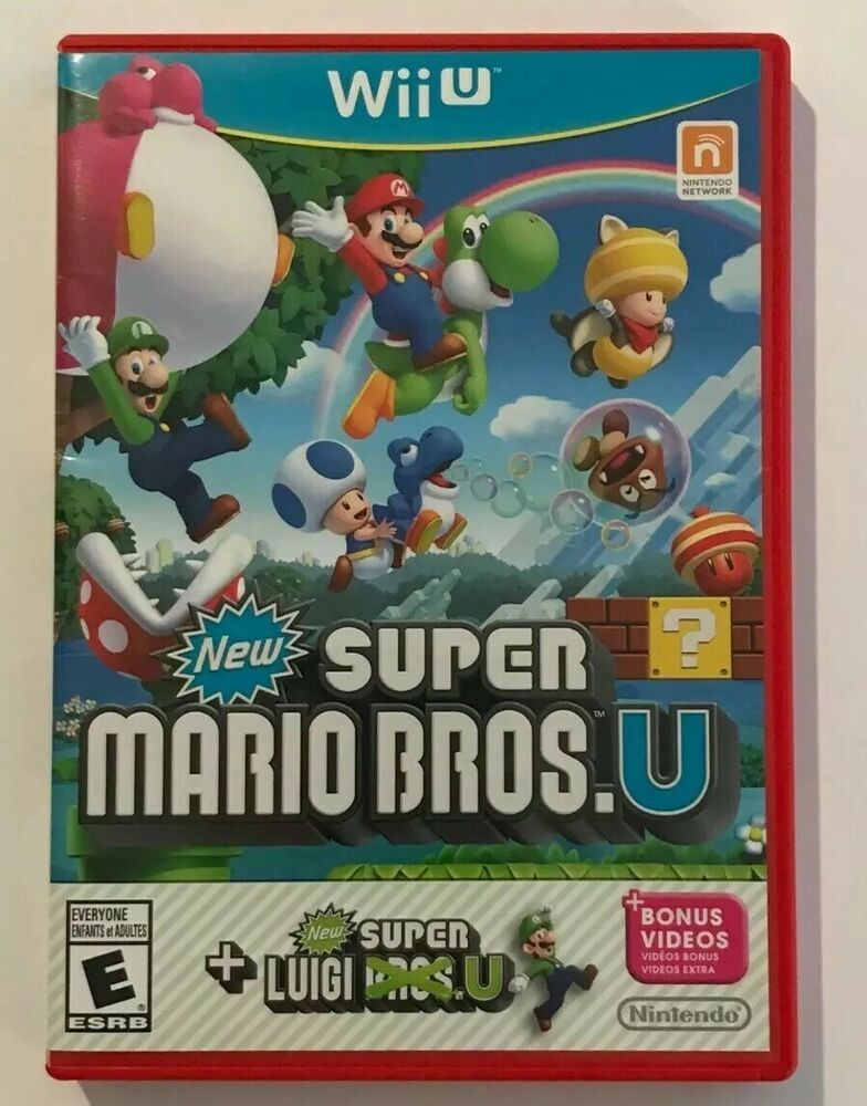 New Super Mario Bros U New Super Luigi U Nintendo Wii U Brand