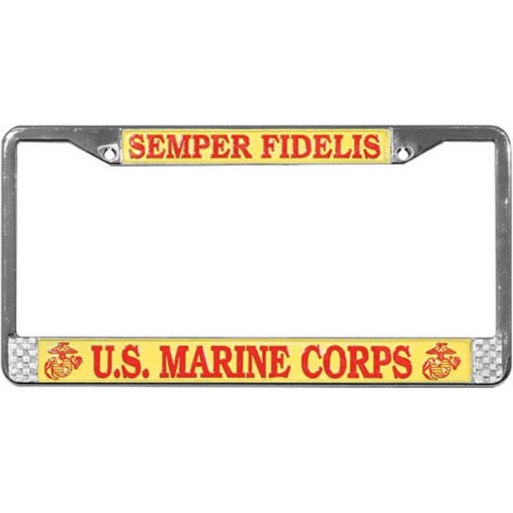 U.S. Marine Corps Semper Fidelis License Plate Frame - eMarinePX ...