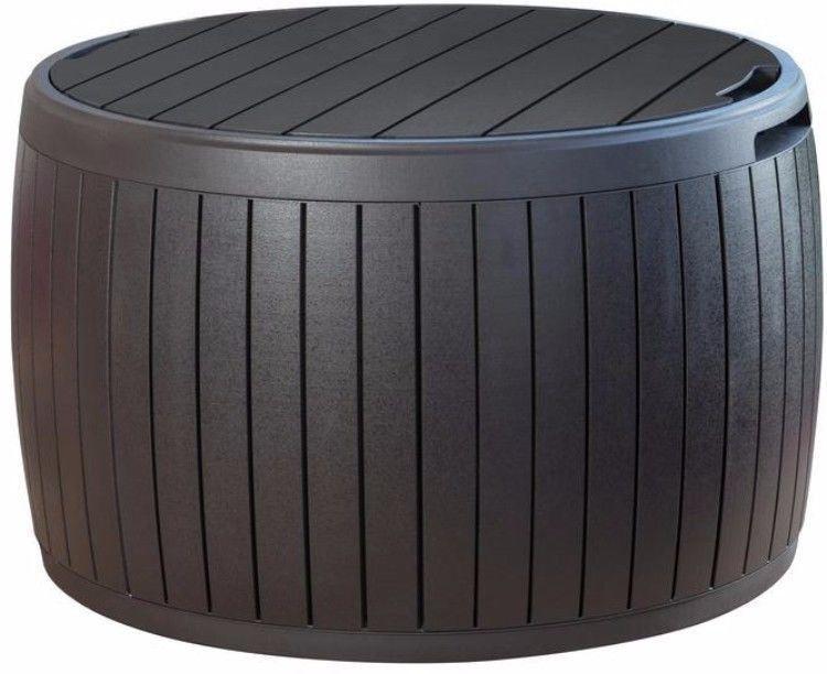 37 gallon resin storage circular deck box contemporary