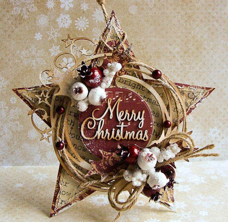 Новогодняя скрап открытка звезда, картинки рабочий