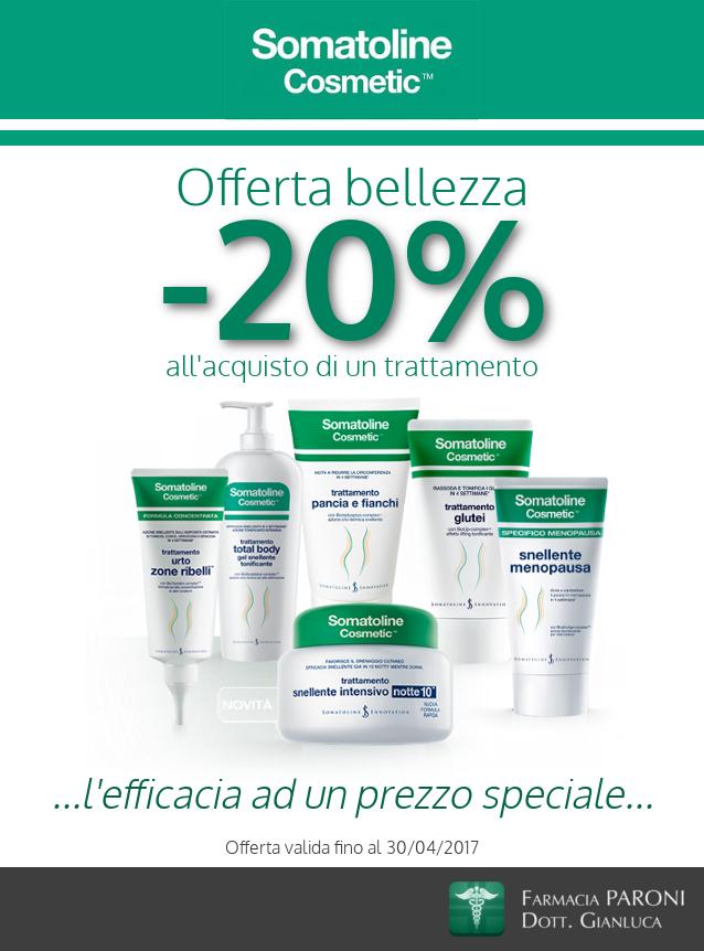 Sconto 20% su tutta la linea Somatoline Cosmetic Snellente