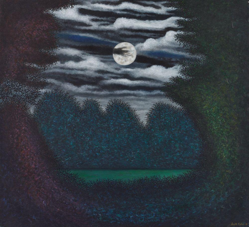 """Spring Moon"", 20"" x 22"", oil/linen"