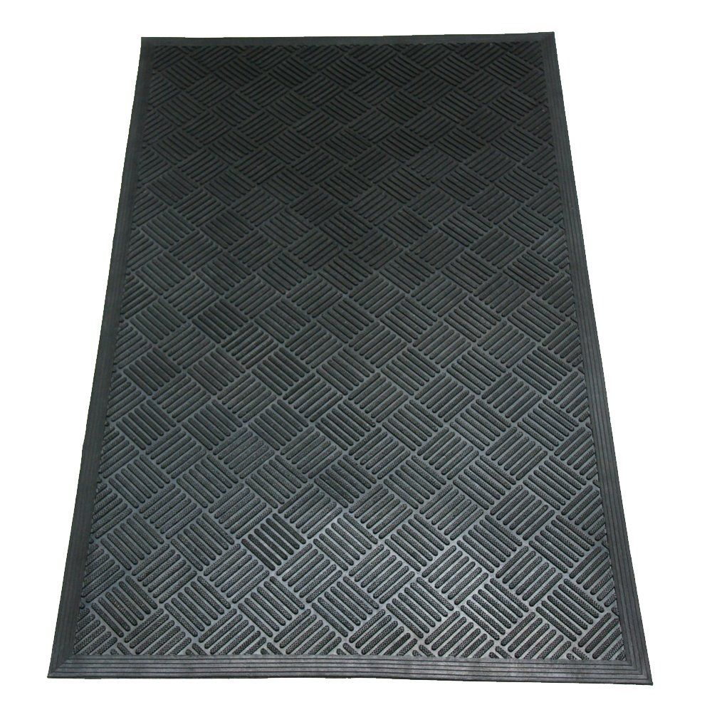 Rubbercal 03235ch Durascraper Checkered Commercial Rubber Entrance Mat 3 8 Thick X 3 X 5 Black Examine This Awesome Pro In 2020 Entrance Mat Rubber Door Mat Entrance