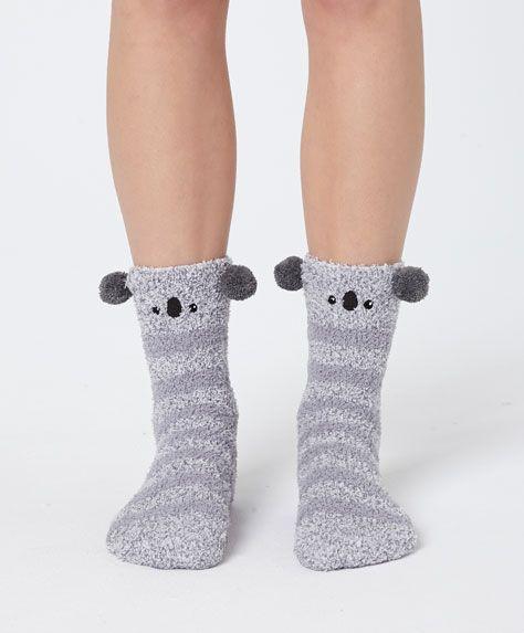 c20fd3544a7 Fluffy koala socks - OYSHO - adri