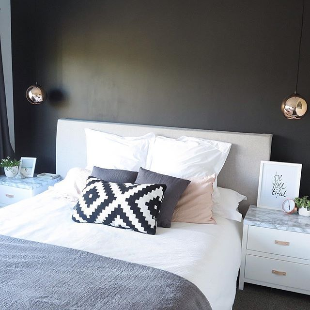 Copper And Grey Bedroom Ideas: B E D T I M E • @iamtarryndonaldson Grey White And Blush