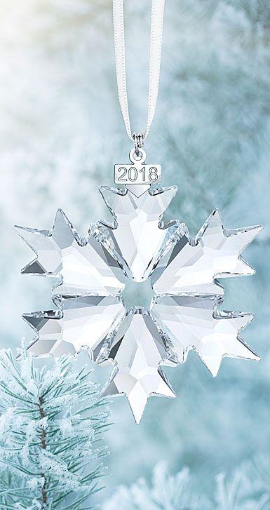 Swarovski Crystal Annual Edition 2018 Crystal Ornament Swarovski Christmas Ornaments Swarovski Ornaments Swarovski Christmas