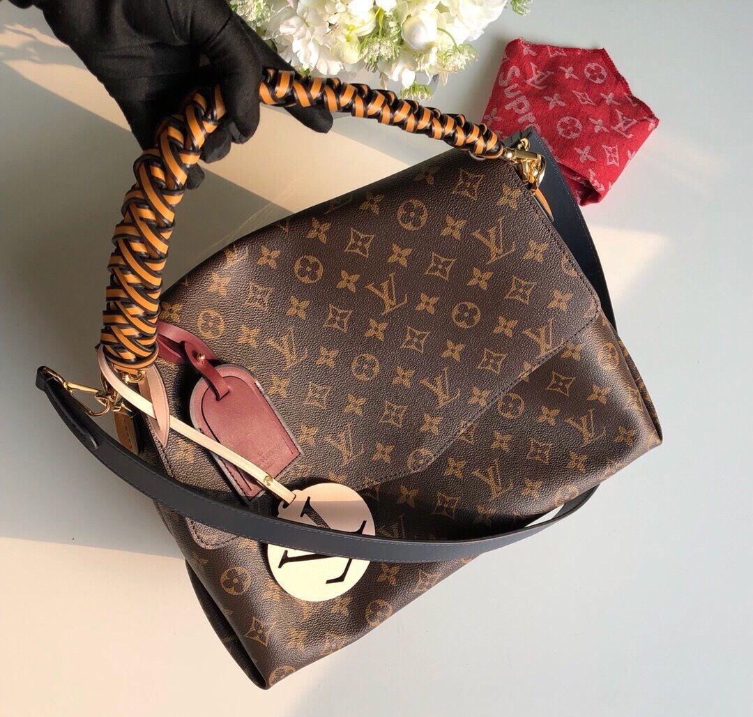 3c9ca6d59098 625 us dollar Louis Vuitton Monogram Canvas Beaubourg MM Bag M43953  louis   vuitton  beaubourg  m43953  lv bags