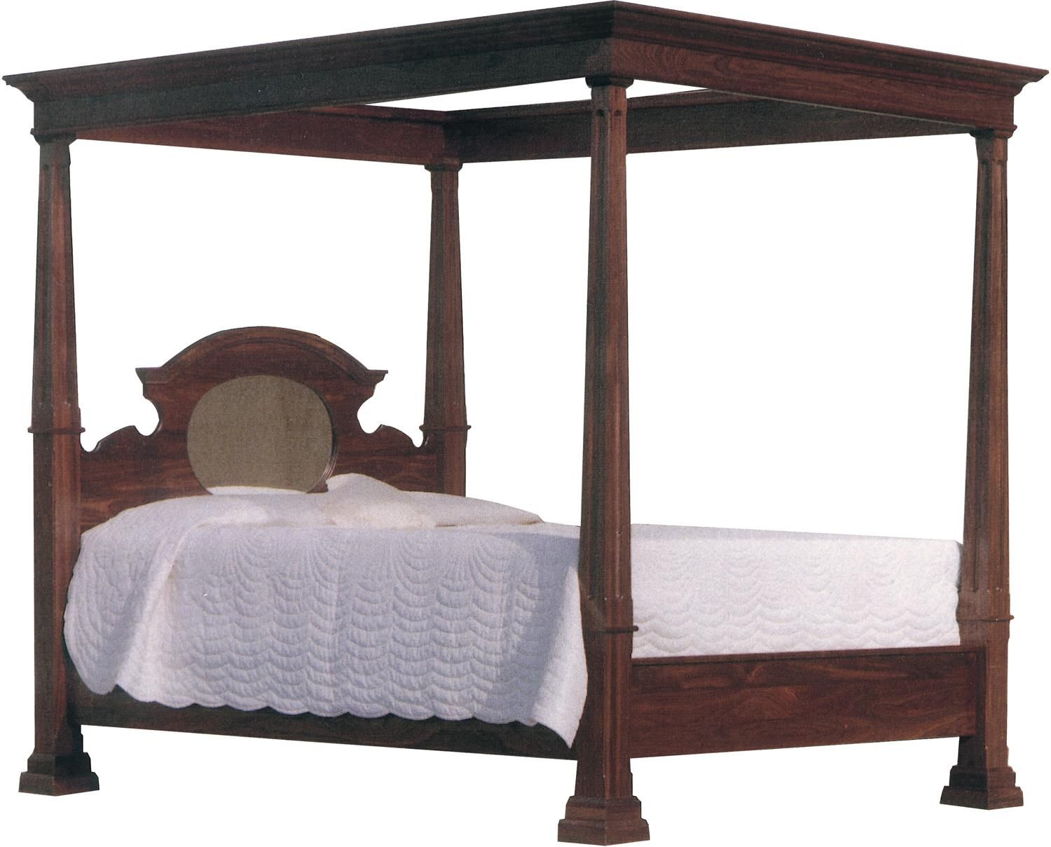 Best Amish Legacy Deluxe Crown Canopy Bed Mid Century Modern 640 x 480