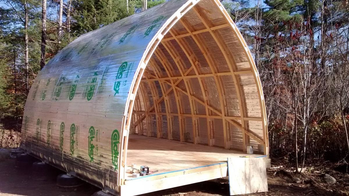 Hoop Quonset Hut Type Building For Temporary Living