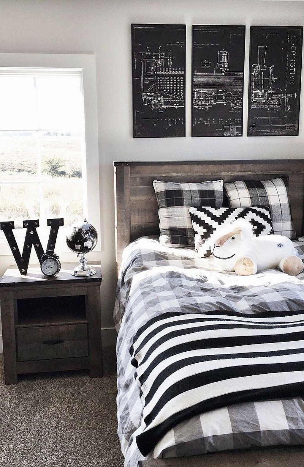 Pin by Julie Ehrman on Black & white Bedroom | Einrichtungsideen ...