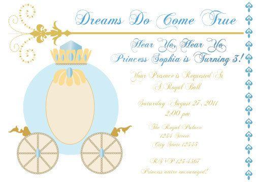 Cinderella Printable Birthday Invitation by whimsyllc on Etsy