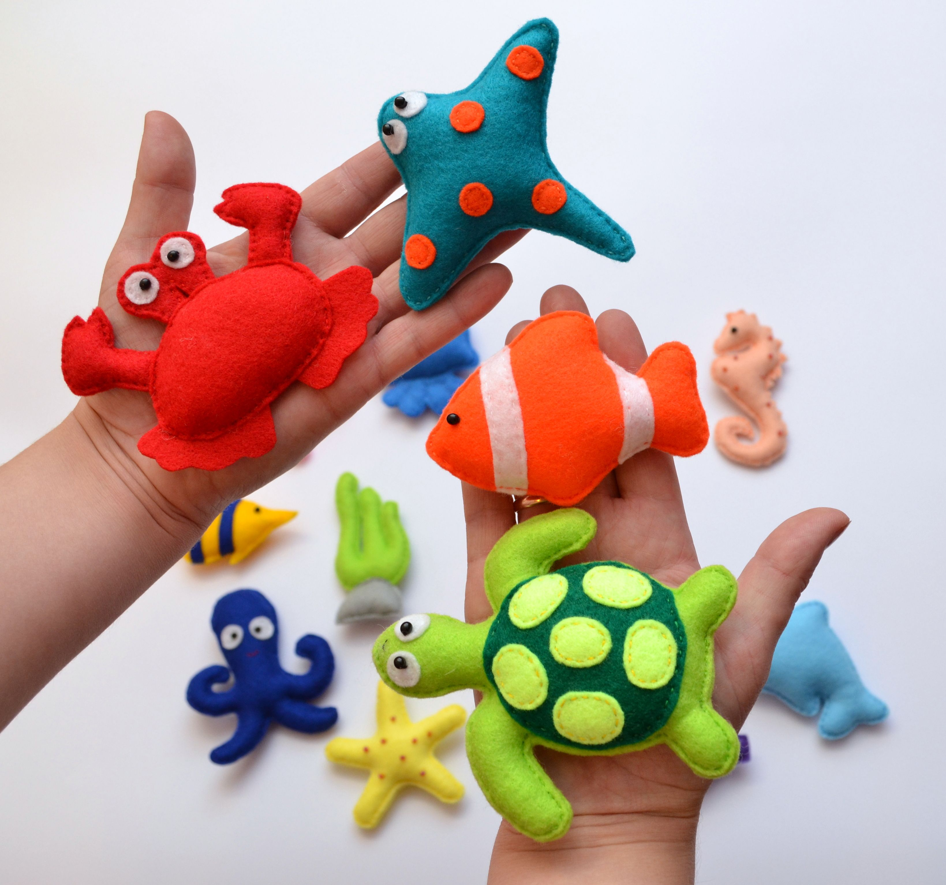 Felt Sea Animals Ocean Crafts Pinterest Felting