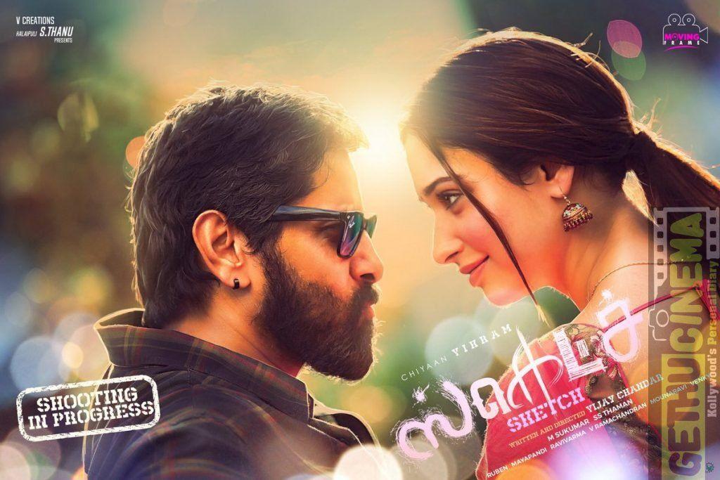 Sketch Tamil Movie Hd First Look Poster Vikram Tamannaah Gethu Cinema Tamil Video Songs Tamil Movies Movie Photo