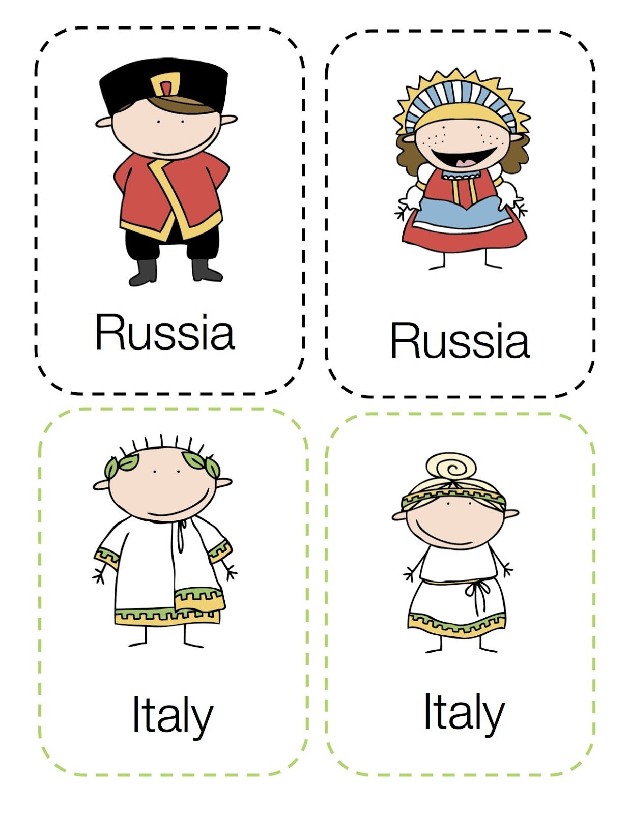 Preschool Printables Around The World Kids With Images