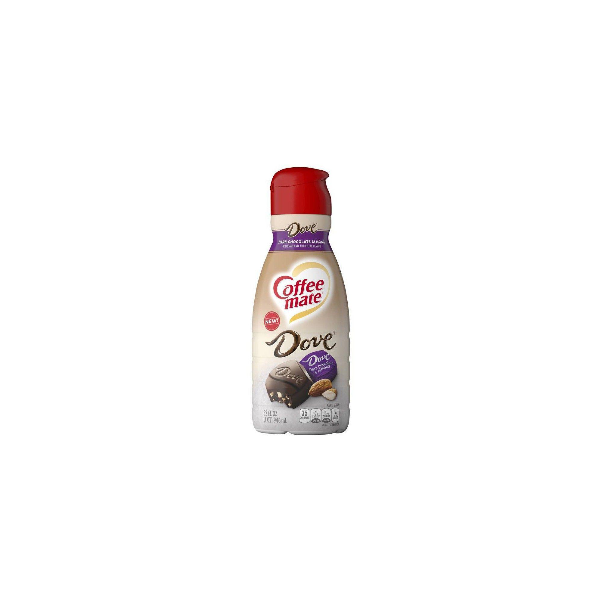 Coffee mate dove dark chocolate almond coffee creamer 32