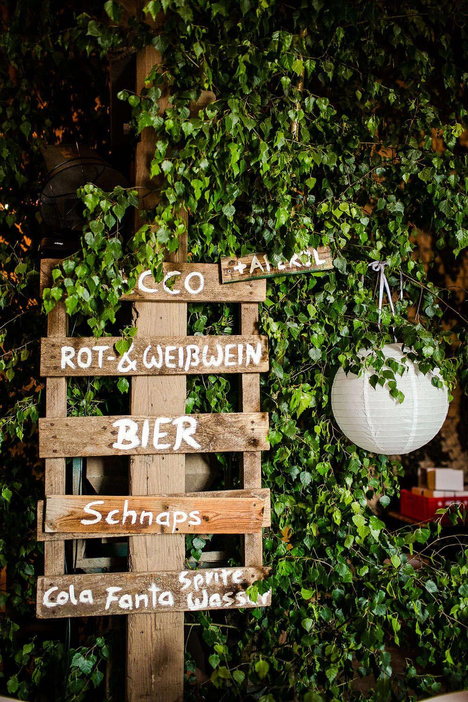 Hochzeit Diy Getranke Schild Selbermachen Paletten Bar Schild