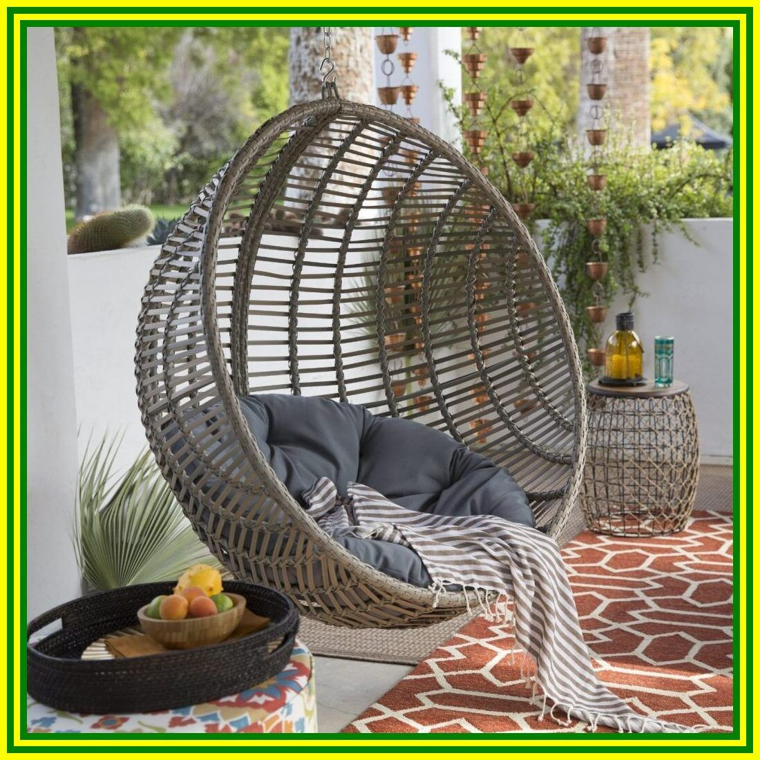 hanging nest chair cushion