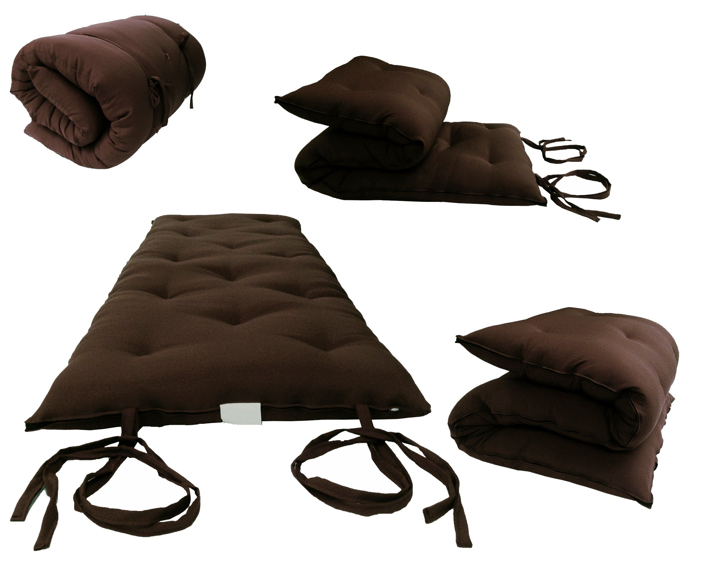 Brand New Brown Traditional Anese Floor Futon Mattresses Foldable Cushion Mats Yoga Meditaion