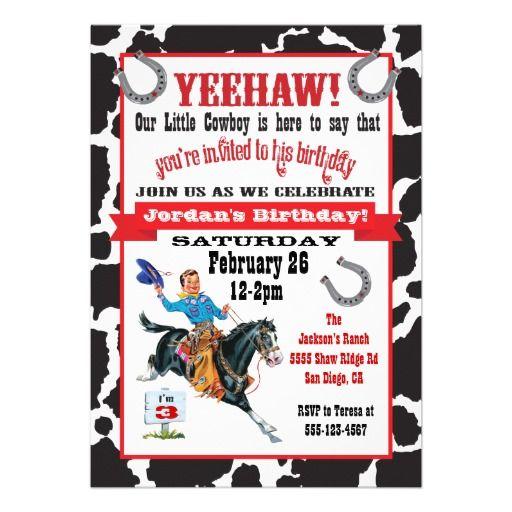 little cowboy birthday party invitation cowboy birthday party
