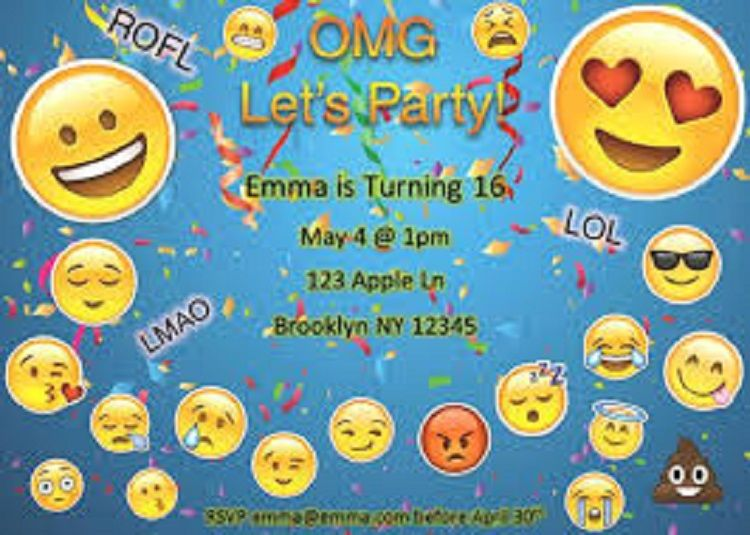 Free Emoji Birthday Invitation Templates Check More At Cardpedia