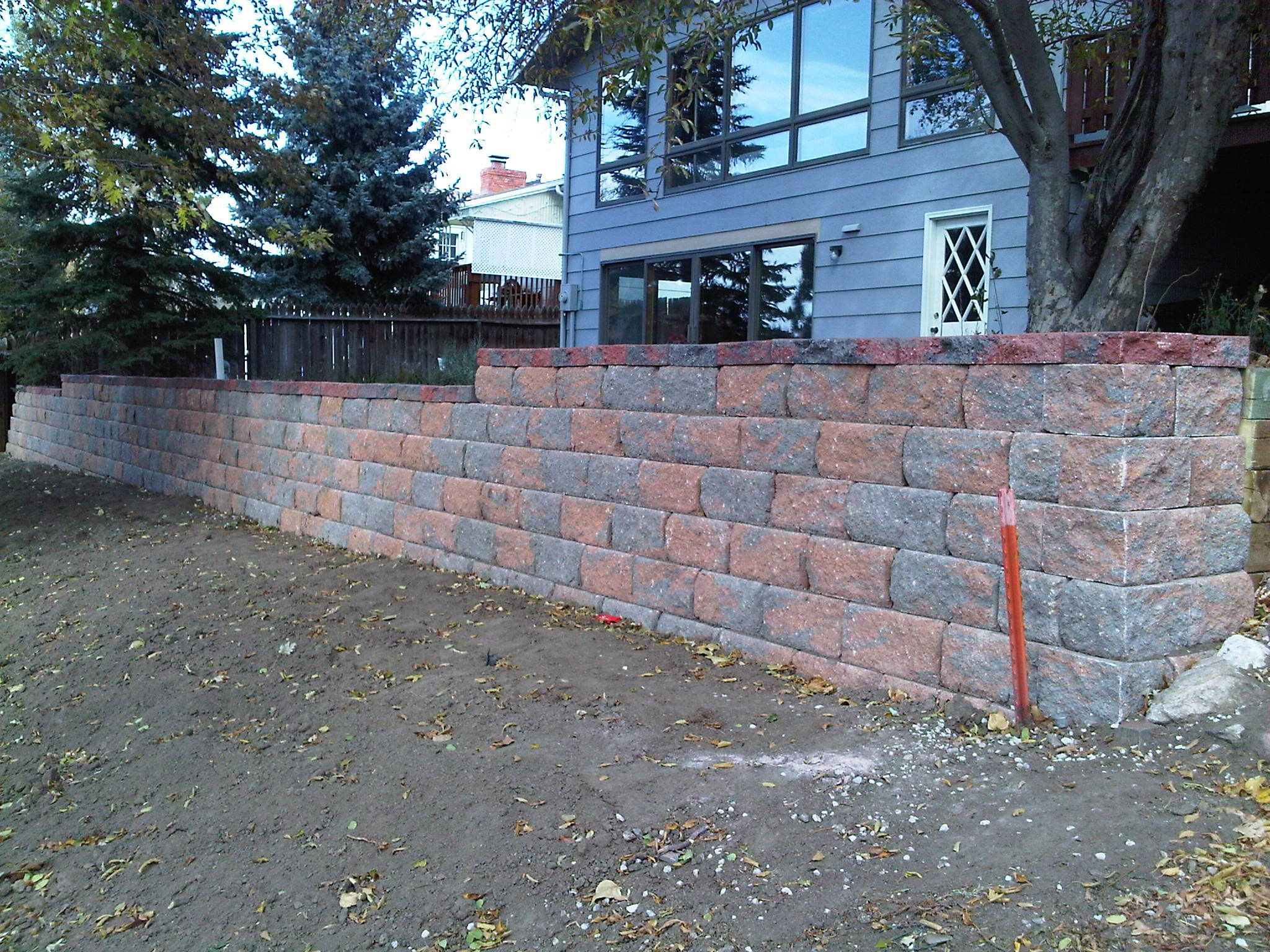 Pavestone Block Retaining Wall...another Idea For Behind The Garage