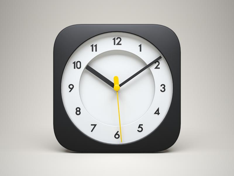 3d Ios Clock Icon Icon Design Inspiration App Icon Mobile App Icon