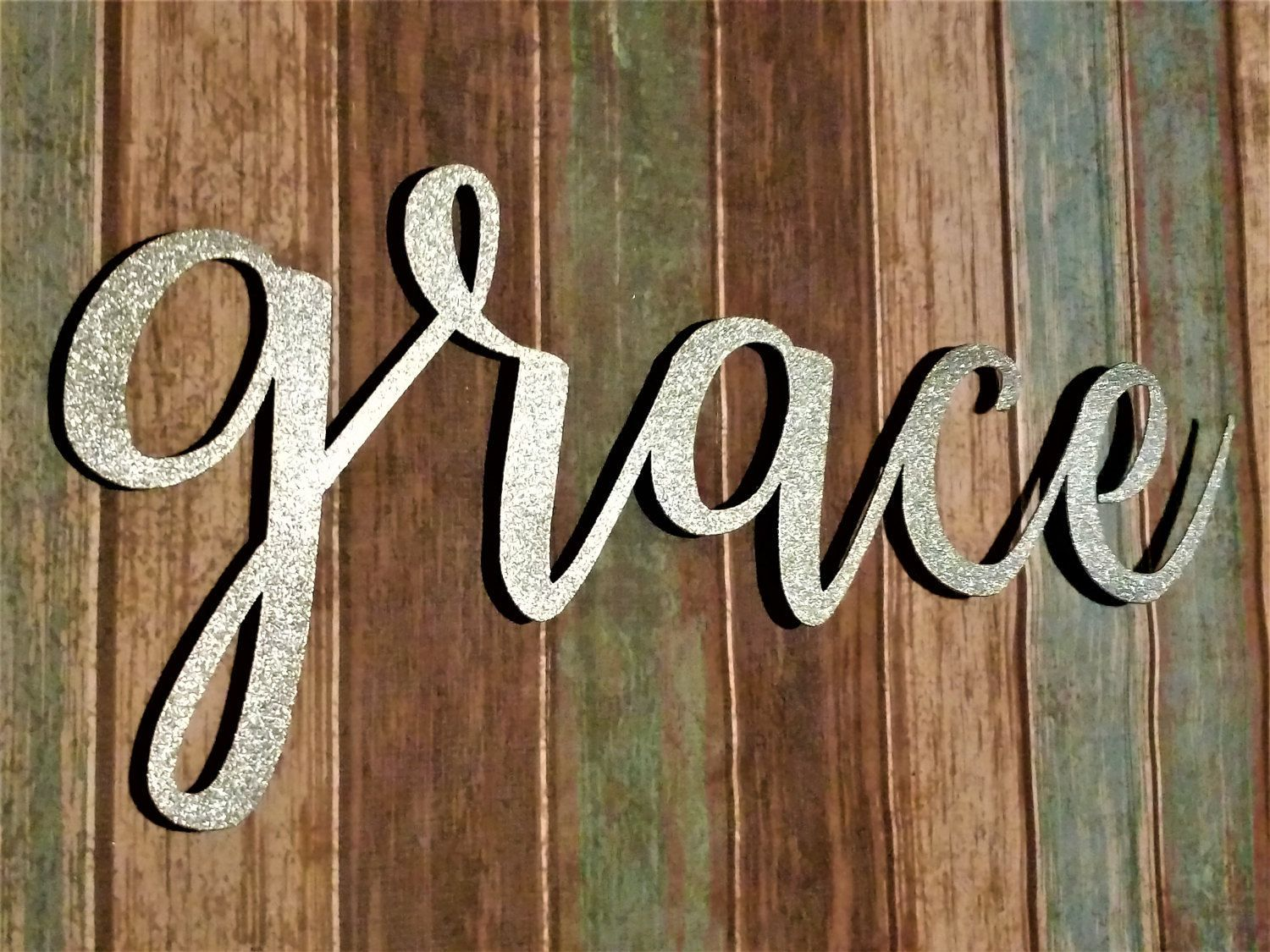 Wood Word Wall Art grace sign, farmhouse decor, grace wall art, rustic signs, grace