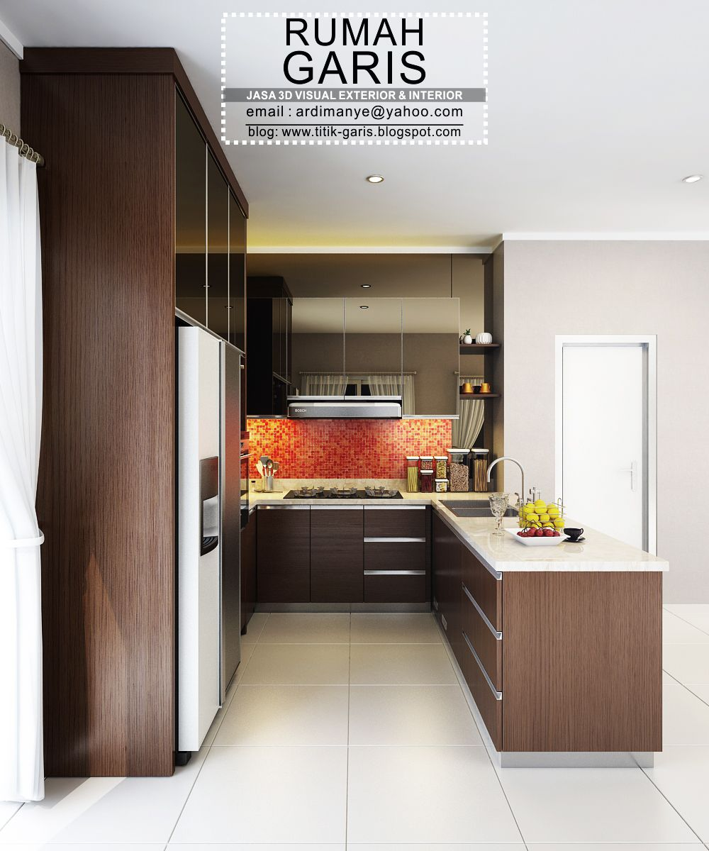 Kitchen Set Modern Letter U Home Desain Interior Dapur