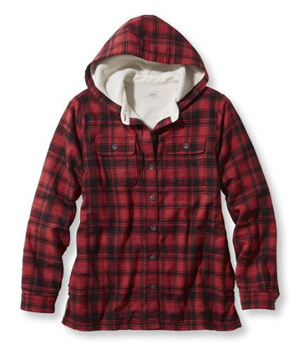 aeda88f3d9c3 Fleece-Lined Flannel Plaid Hoodie