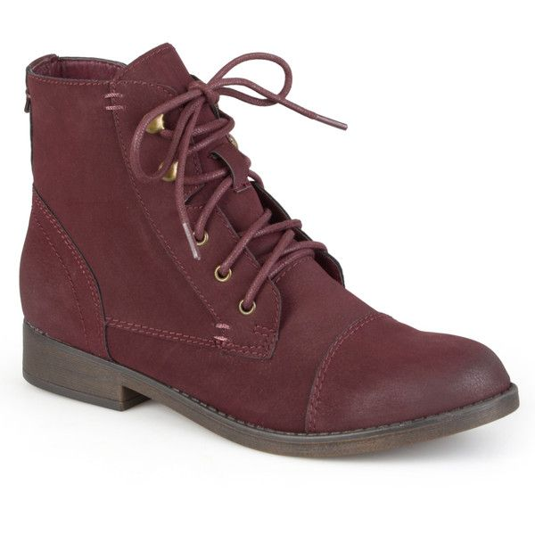 Madden Girl by Steve Madden Women's 'Ruebe' Lace-up Booties featuring polyvore, fashion, shoes, boots, ankle booties, madden girl, lace up boots, laced booties, lacing boots and lace-up ankle booties