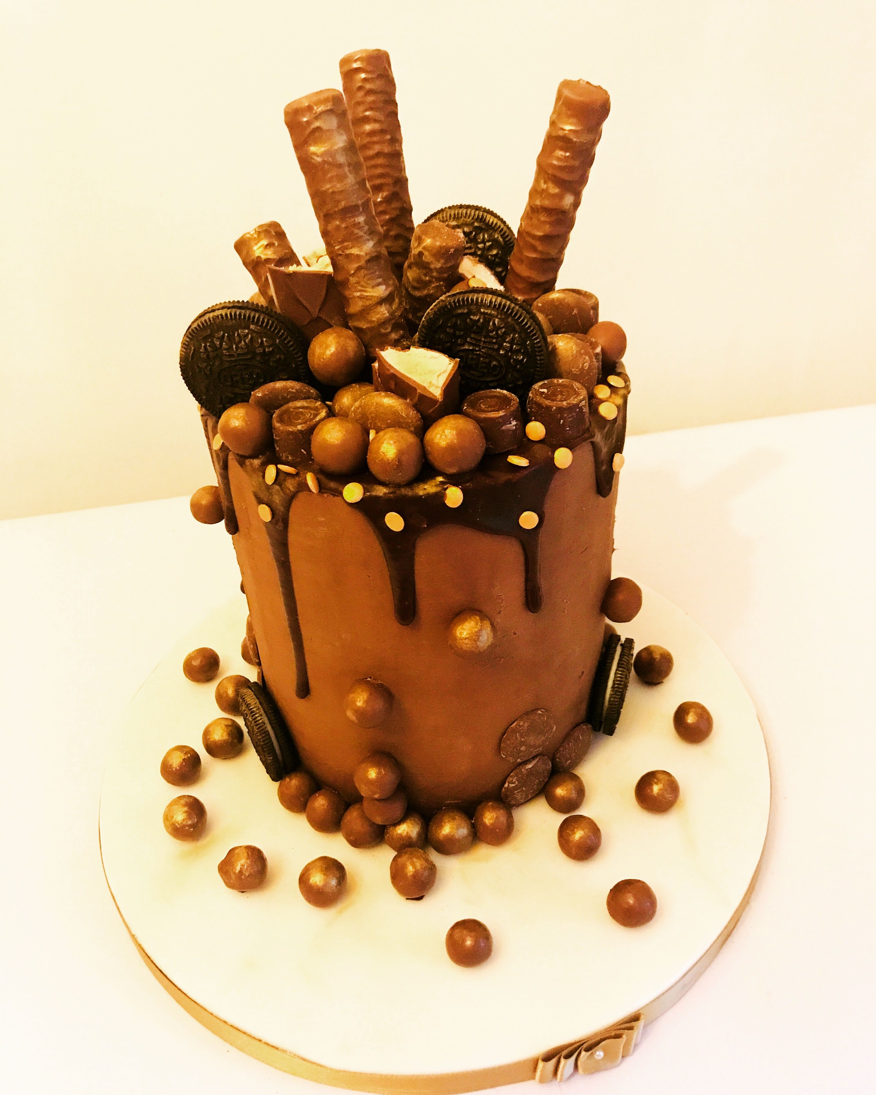 Double barrel chocolate overload cake cake bakery food