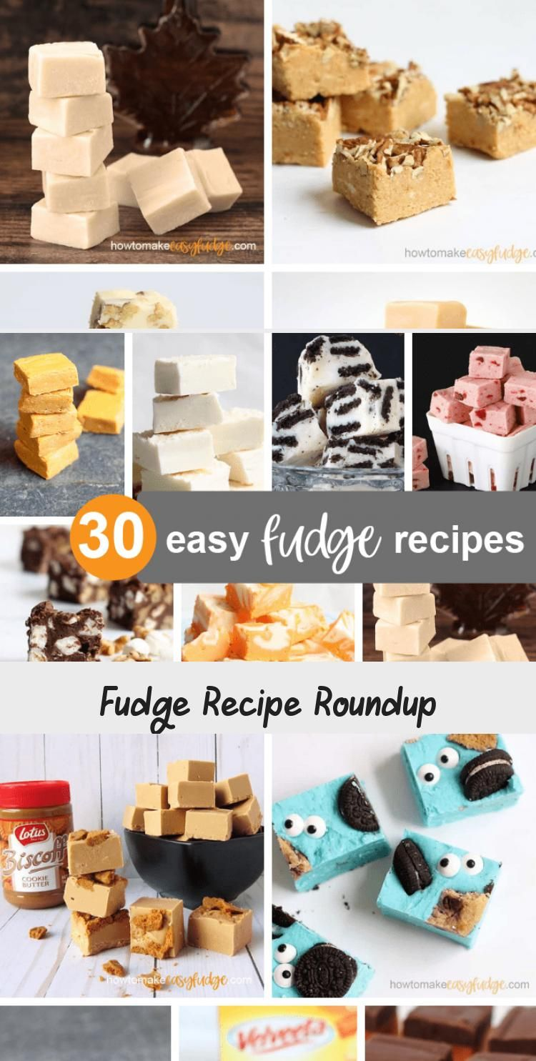Photo of A roundup of 30 easy FUDGE RECIPES! All the fudge recipes you need. Chocolate, v…