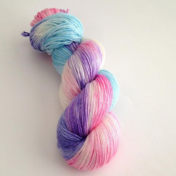 Hand Dyed Yarn  Dancing Butteflies   Merino by aVividYarnStudio