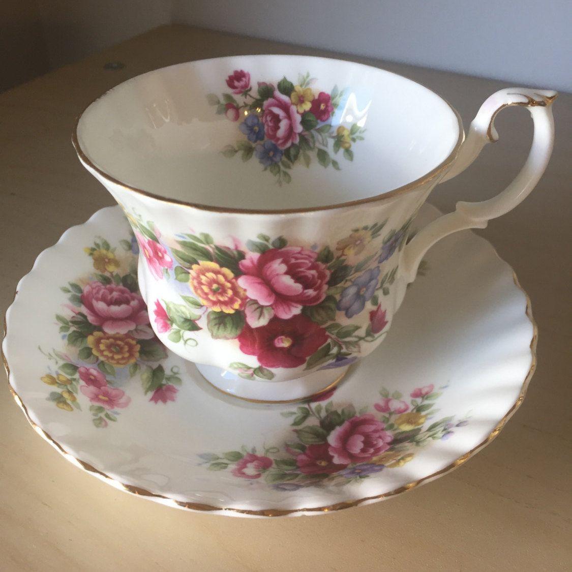 Clearance Sale Royal Albert Chelsea Garden Tea Cups Tea Cups Vintage Chelsea Garden