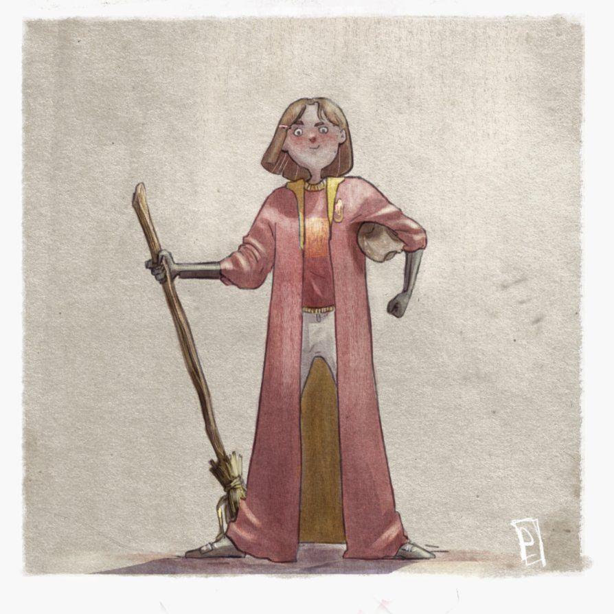 Katie Bell By Eirwen980 Katie Bell Katie Bell Harry Potter Art