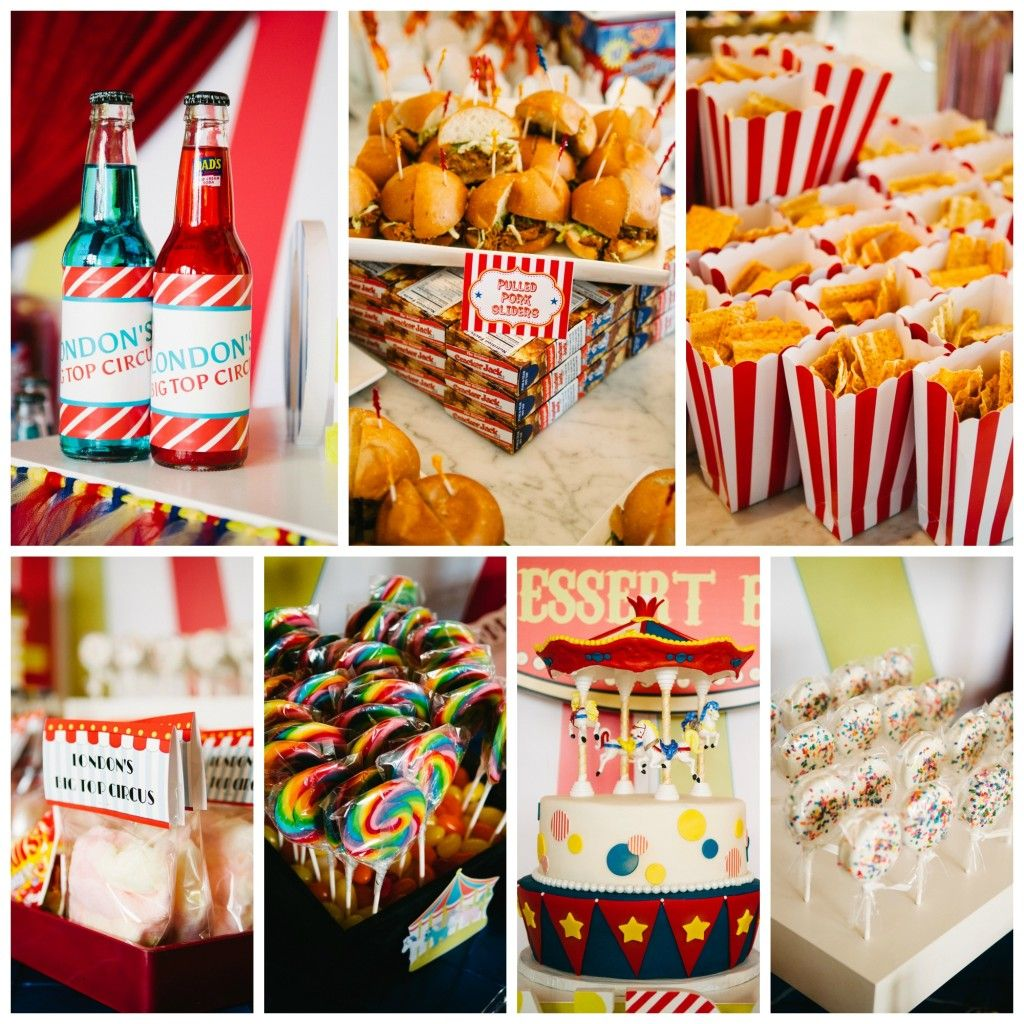 Vintage Carnival Wedding Ideas: Circus And Carnival Wedding Food