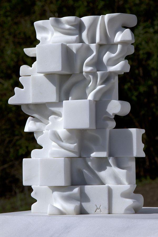 Marton Varo 35 Cubes 2016 Carrara Marble 14 10 6 Inches Art Sculpture