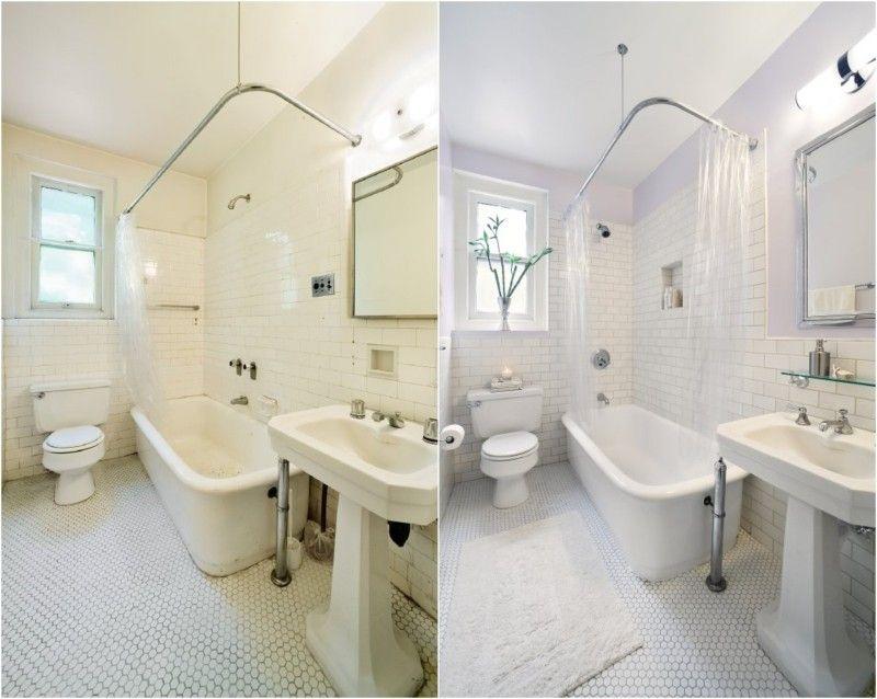 Dispersionsfarbe Badezimmer ~ Flieder wandfarbe und weiße fliesen im bad wohnideen pinterest