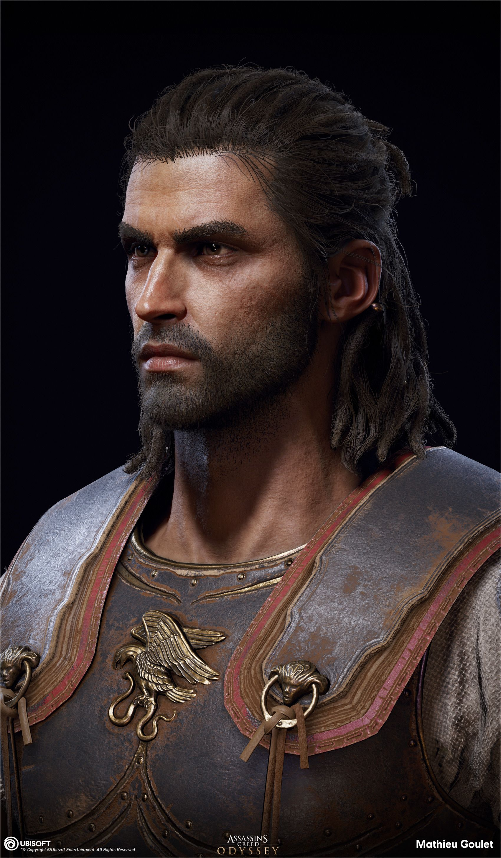 Artstation Assassin S Creed Odyssey Alexios Head Mathieu