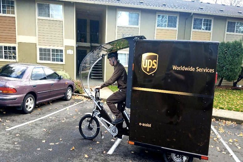 Brown Goes Green Ups Tests Electric Bikes For Deliveries In