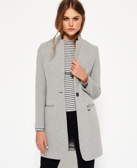 Superdry Scuba Longline Blazer - Women's Jackets & Coats