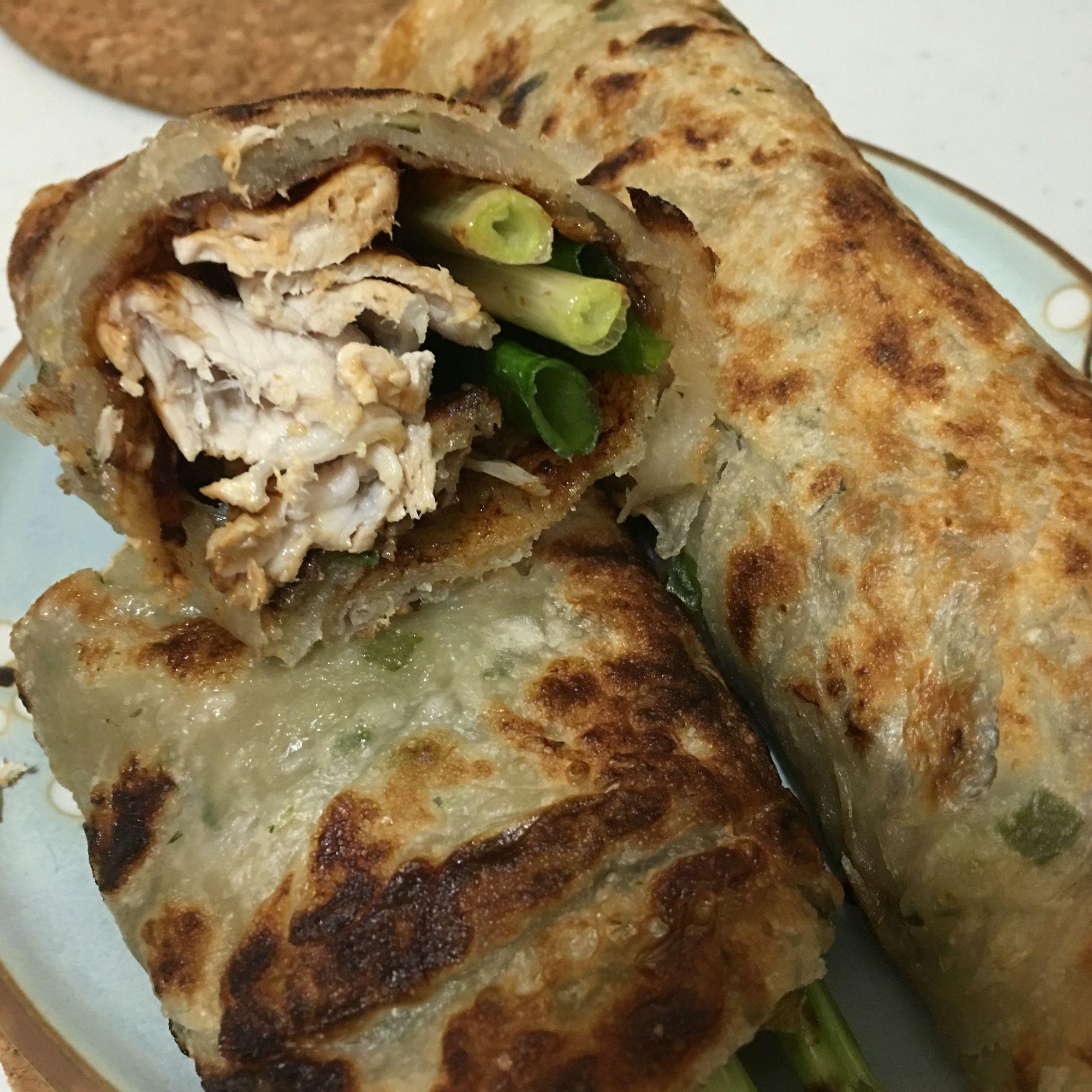 Beijing flavor pork burrito real chinese cuisine food