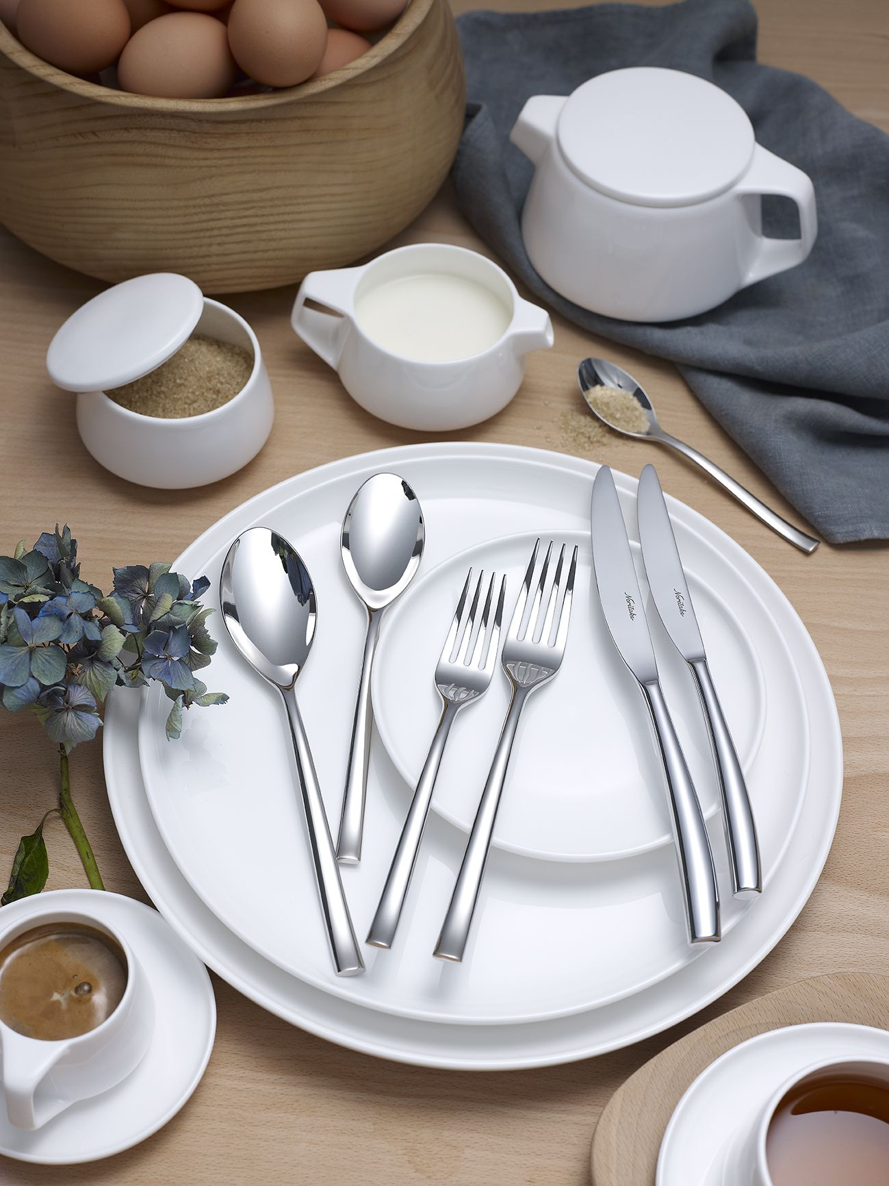 Tableware and cutlery by Noritake tableware designed by Marc Newson industrial designer & Tableware and cutlery by Noritake tableware designed by Marc Newson ...
