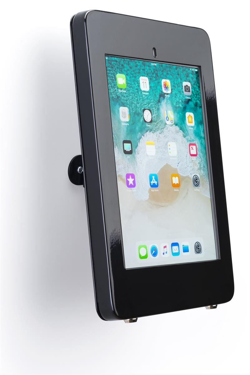 Ipad Pro 10 5 Wall Fixture W Covered Home Button Tilt And 360 Rotation Black Ipad Wall Mount Ipad Pro Ipad Holder