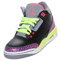 938a48a012a6d4 Girls  Grade School Air Jordan Retro 3 Basketball Shoes