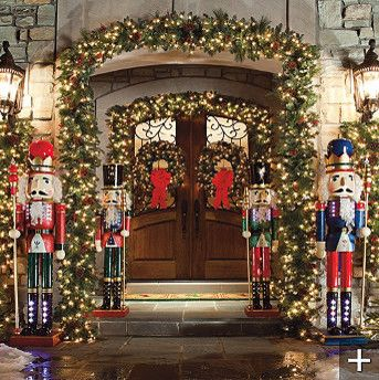 Classic Outdoor Pre Lit Garland   Traditional   Holiday Outdoor Decorations      By FRONTGATE