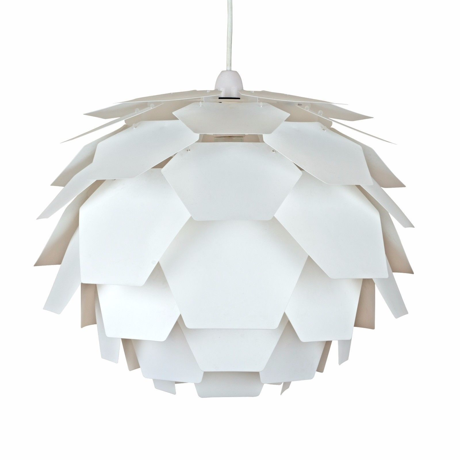Modern White Funky Retro Style Artichoke Ceiling Pendant Light Lamp