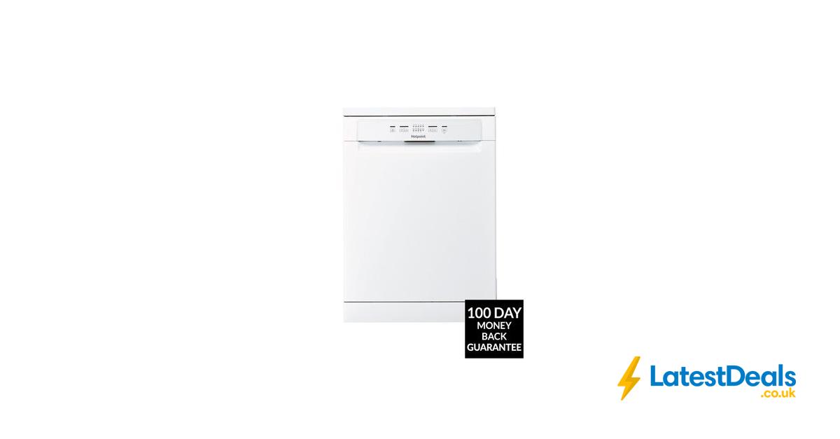Hotpoint 13 Place Full Size Dishwasher With Quick Wash White