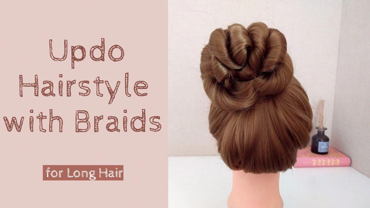 3 Minute Easy High Bun Hairstyle Tutorial For Long Hair The Style Is Perfect For Everyday Pro In 2020 Long Hair Styles Bun Hairstyles For Long Hair Easy Braided Updo